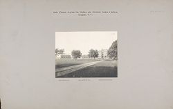 Races, Indians: United States. New York. Iroquois. Thomas Asylum for Orphan and Destitute Indian Children: State Thomas Asylum for Orphan and Destitute Indian Children, Iroquois, N.Y.: Girls' Dormitory No.1, Girls' Dormitory No.2, Administration Building.   Social Museum Collection