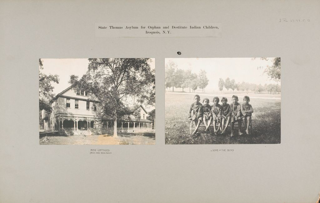 Races, Indians: United States. New York. Iroquois. Thomas Asylum For Orphan And Destitute Indian Children: State Thomas Asylum For Orphan And Destitute Indian Children, Iroquois, N.y.