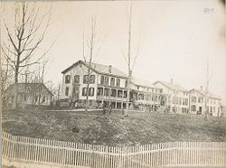 Races, Indians: United States. New York. Iroquois. Thomas Asylum for Orphan and Destitute Indian Children: State Thomas Asylum for Orphan and Destitute Indian Children, Iroquois, N.Y.: From an Old Photograph.   Social Museum Collection