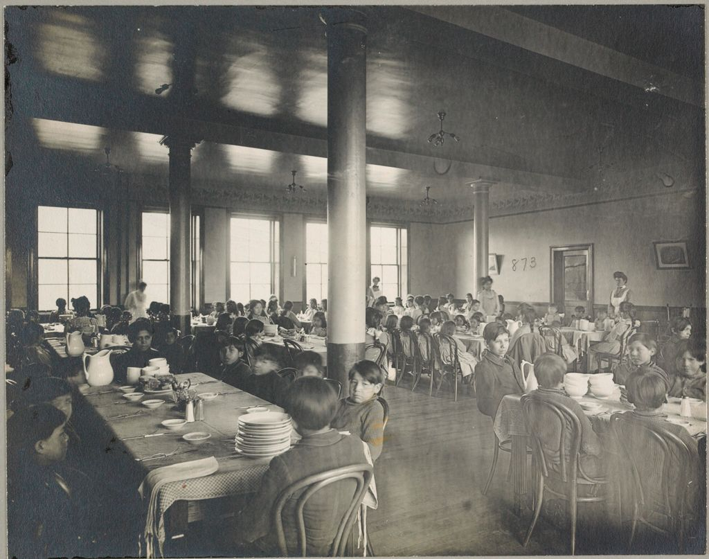 Races, Indians: United States. New York. Iroquois. Thomas Asylum For Orphan And Destitute Indian Children: State Thomas Asylum For Orphan And Destitute Indian Children, Iroquois, N.y.: Dining-Room