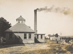 Races, Indians: United States. New York. Iroquois. Thomas Asylum for Orphan and Destitute Indian Children: State Thomas Asylum for Orphan and Destitute Indian Children, Iroquois, N.Y.: Old Power Plant.   Social Museum Collection