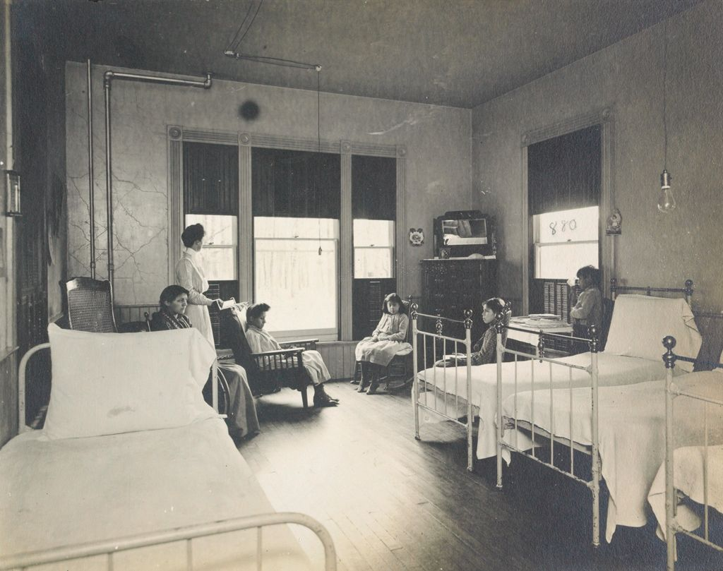 Races, Indians: United States. New York. Iroquois. Thomas Asylum For Orphan And Destitute Indian Children: State Thomas Asylum For Orphan And Destitute Indian Children, Iroquois, N.y.: Hospital Ward