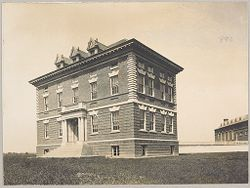 Races, Indians: United States. New York. Iroquois. Thomas Asylum for Orphan and Destitute Indian Children: State Thomas Asylum for Orphan and Destitute Indian Children, Iroquois, N.Y.: School Building.   Social Museum Collection