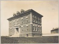 Races, Indians: United States. New York. Iroquois. Thomas Asylum for Orphan and Destitute Indian Children: State Thomas Asylum for Orphan and Destitute Indian Children, Iroquois, N.Y.: School Building