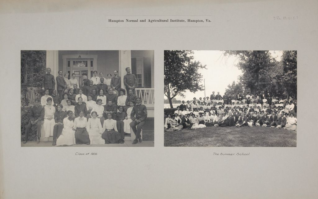 Races, Negroes: United States. Virginia. Hampton. Hampton Normal And Industrial School: Hampton Normal And Agricultural Institute, Hampton, Va.
