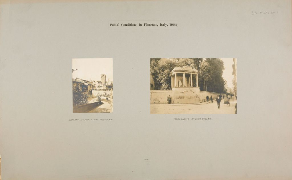 Recreation, Art: Italy. Florence. Architecture And Indoor Art: Social Conditions In Florence, Italy, 1903