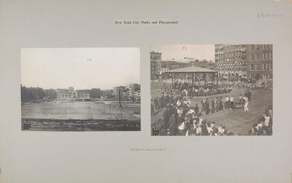 Recreation, Park And Playgrounds: United States. New York. New York City. Seward Park, Open Air Playground: New York City Parks And Playgrounds: William H. Seward Park.