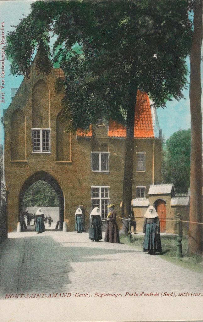 Religious Agencies: Belgium. Ghent. Mont-Saint-Amand Béguinage: Environment Before Immigration. Social Conditions In Belgium: 1905: Mont-Saint-Amand (Gand). Béguinage. Porte D'entrée (Sud), Intérieur.