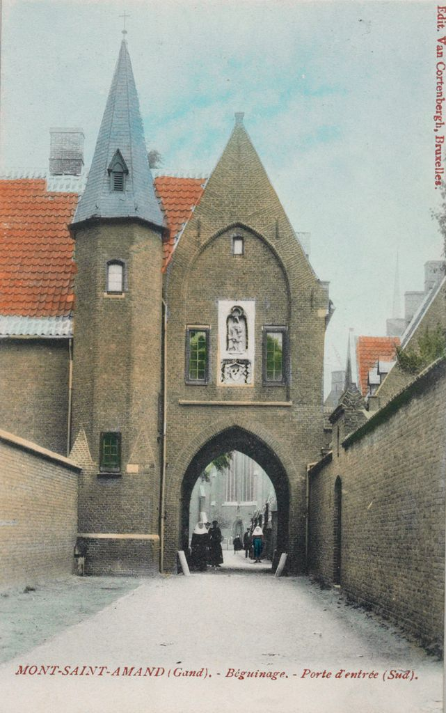 Religious Agencies: Belgium. Ghent. Mont-Saint-Amand Béguinage: Environment Before Immigration. Social Conditions In Belgium: 1905: Mont-Saint-Amand (Gand). - Béguinage. - Porte D'entrée (Sud).