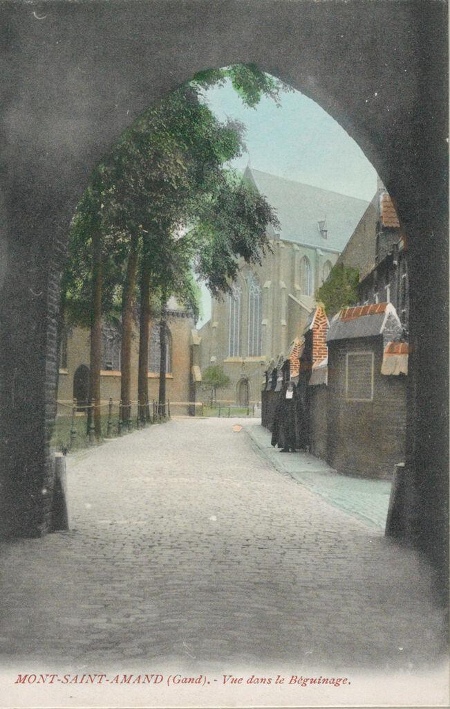 Religious Agencies: Belgium. Ghent. Mont-Saint-Amand Béguinage: Environment Before Immigration. Social Conditions In Belgium: 1905: Mont-Saint-Amand (Gand). - Vue Dans Le Béguinage.