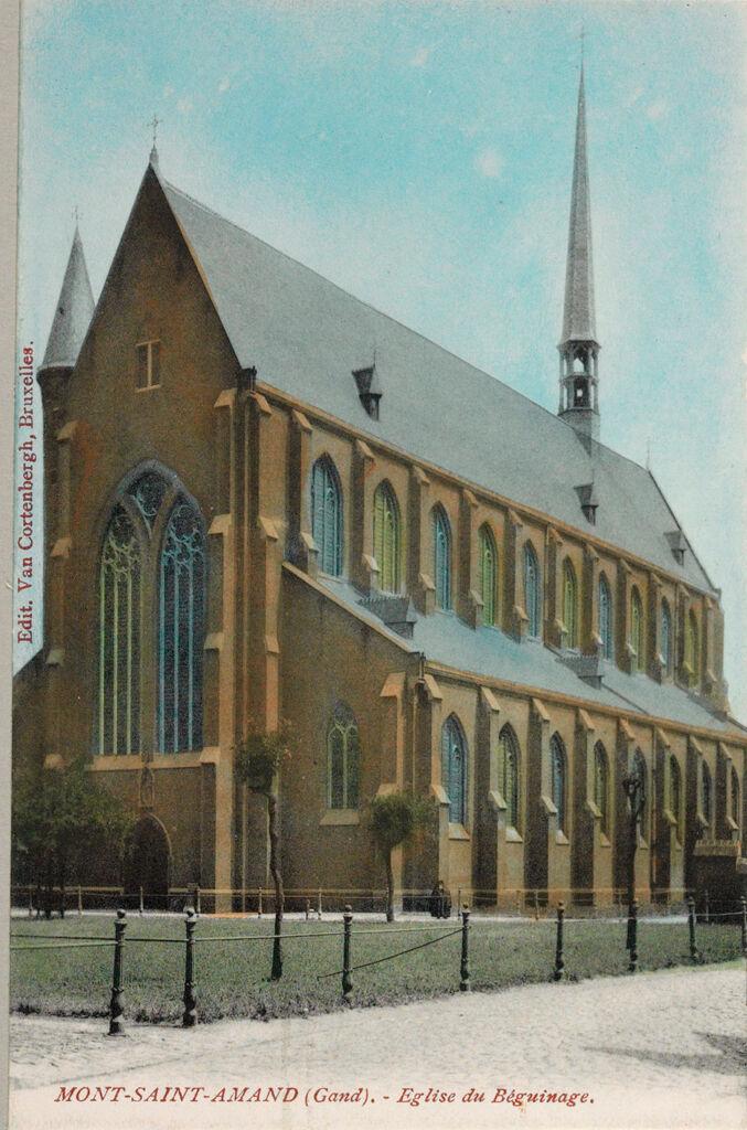 Religious Agencies: Belgium. Ghent. Mont-Saint-Amand Béguinage: Environment Before Immigration. Standards Of Living In European Cities. Social Conditions In Belgium: 1905: Mont-Saint-Amand (Gand). - Eglise Du Béguinage.