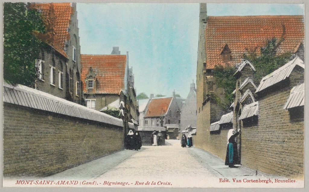 Religious Agencies: Belgium. Ghent. Mont-Saint-Amand Béguinage: Environment Before Immigration. Social Conditions In Belgium: 1905: Mont-Saint-Amand (Gand). - Béguinage. - Rue De La Croix.