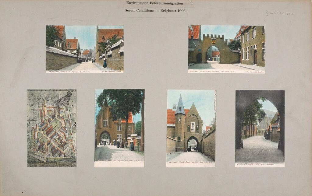 Religious Agencies: Belgium. Ghent. Mont-Saint-Amand Béguinage: Environment Before Immigration. Social Conditions In Belgium: 1905
