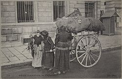 Social Conditions, General: France. Paris: Social Conditions in Paris, France: Rag Pickers.   Social Museum Collection
