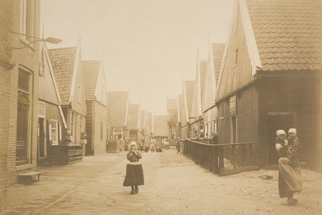 Social Conditions, General: Holland. Isle Of Marken: Social Conditions In Holland, 1903: Isle Of Marken.: Street