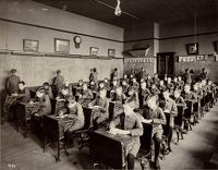 Crime, Children, Reform Schools: United States. Illinois. Chicago. John Worthy School: School Room Jwsch.
