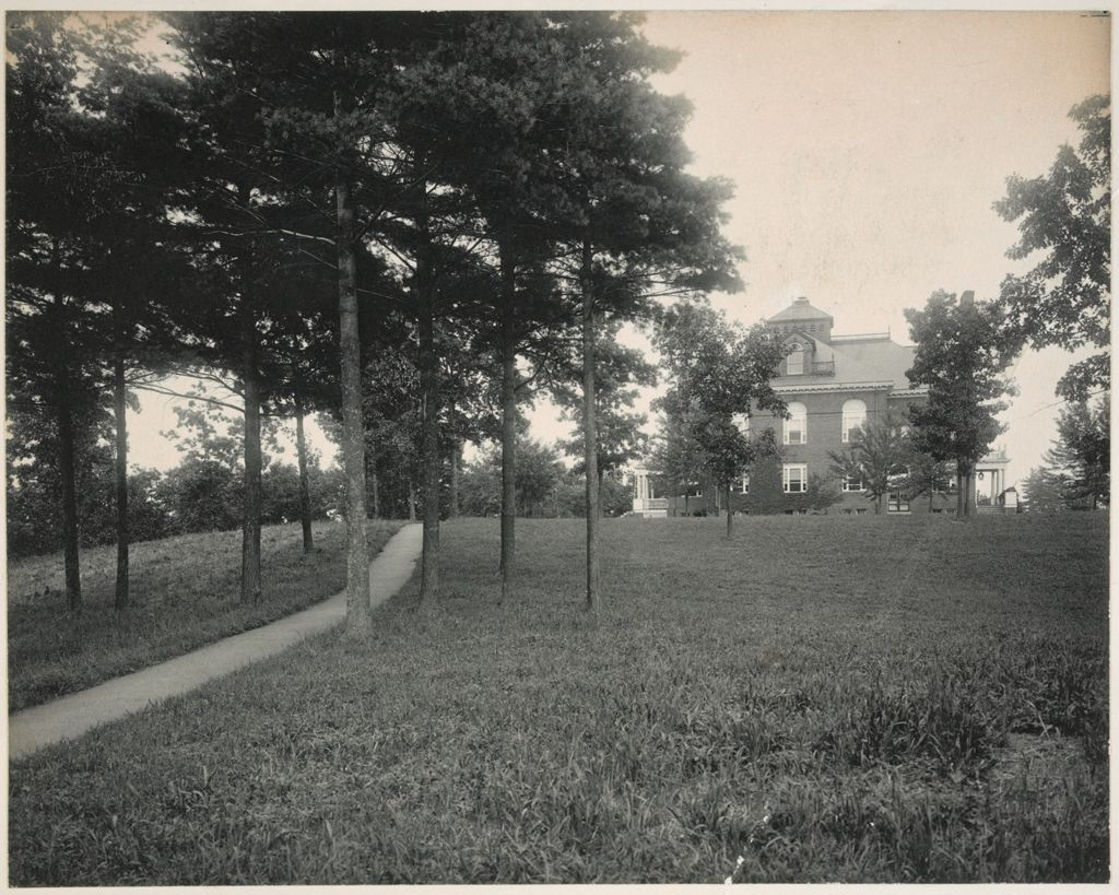 Crime, Children, Truant Schools: United States. Massachusetts. North Chelmsford. Middlesex County Truant School: Middlesex County Truant School, North Chelmsford.  M.a. Warren, Superintendent.: View From Superintendents House.
