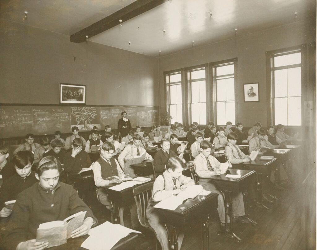 Crime, Children, Reform Schools: United States. Massachusetts. Westboro. Lyman School For Boys: Lyman School For Boys: In The School Room