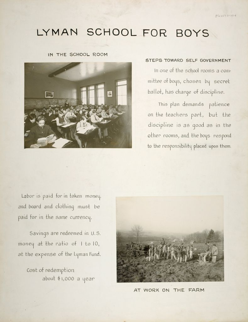 Crime, Children, Reform Schools: United States. Massachusetts. Westboro. Lyman School For Boys: Lyman School For Boys