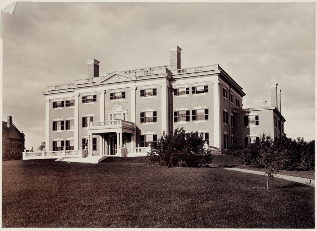 Defectives, Insane: United States. Massachusetts. Waverly. Mclean Hospital: Mclean Hospital. Pierce Building (Administration): Front View
