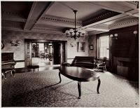 Defectives, Insane: United States. Massachusetts. Waverly. Mclean Hospital: Mclean Hospital. Pierce Building (Administration): Reception Room And Library