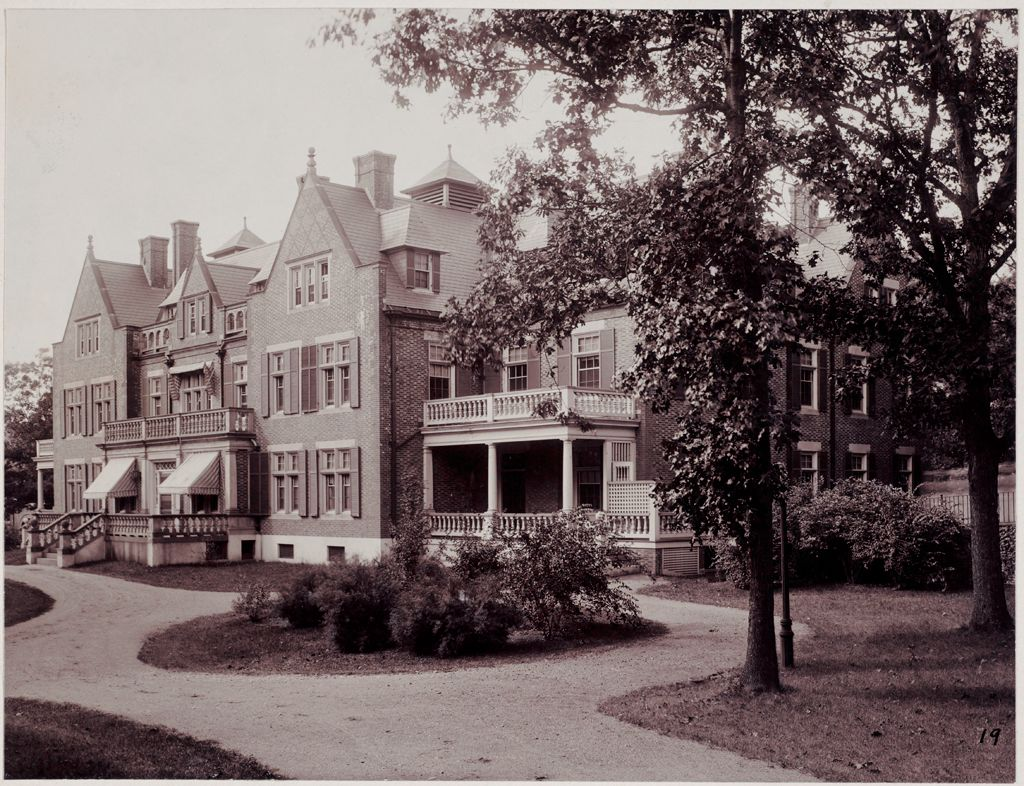 Defectives, Insane: United States. Massachusetts. Waverly. Mclean Hospital: Mclean Hospital. East House: Front View