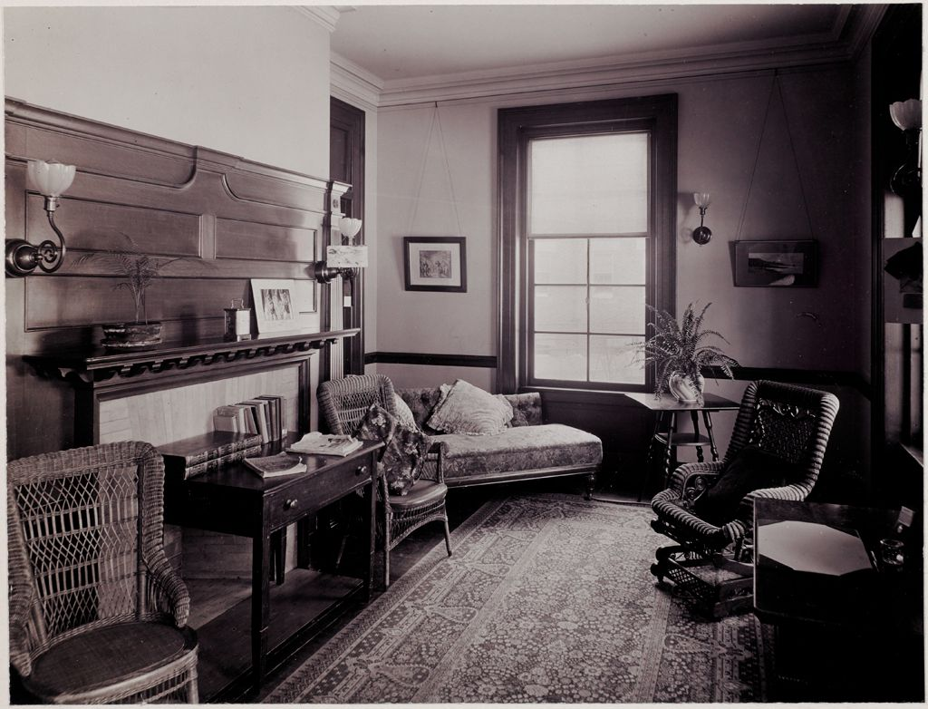 Defectives, Insane: United States. Massachusetts. Waverly. Mclean Hospital: Mclean Hospital. East House: Sitting Room