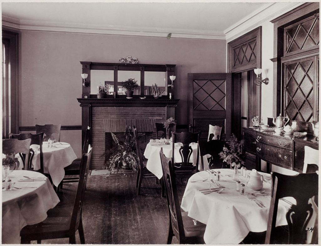 Defectives, Insane: United States. Massachusetts. Waverly. Mclean Hospital: Mclean Hospital. East House: Dining Room