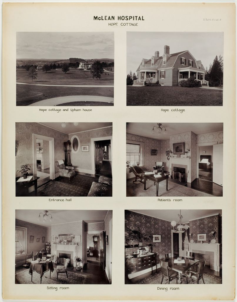 Defectives, Insane: United States. Massachusetts. Waverly. Mclean Hospital: Mclean Hospital: Hope Cottage
