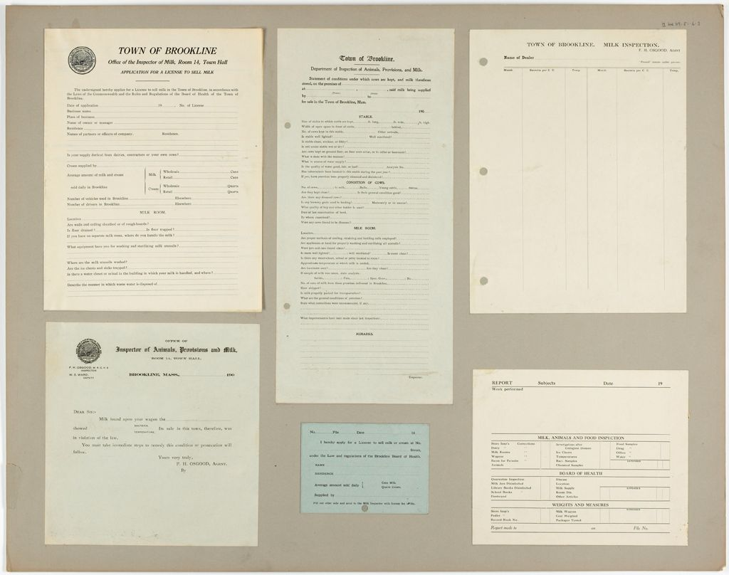 Health, General: United States. Massachusetts. Brookline. Board Of Health