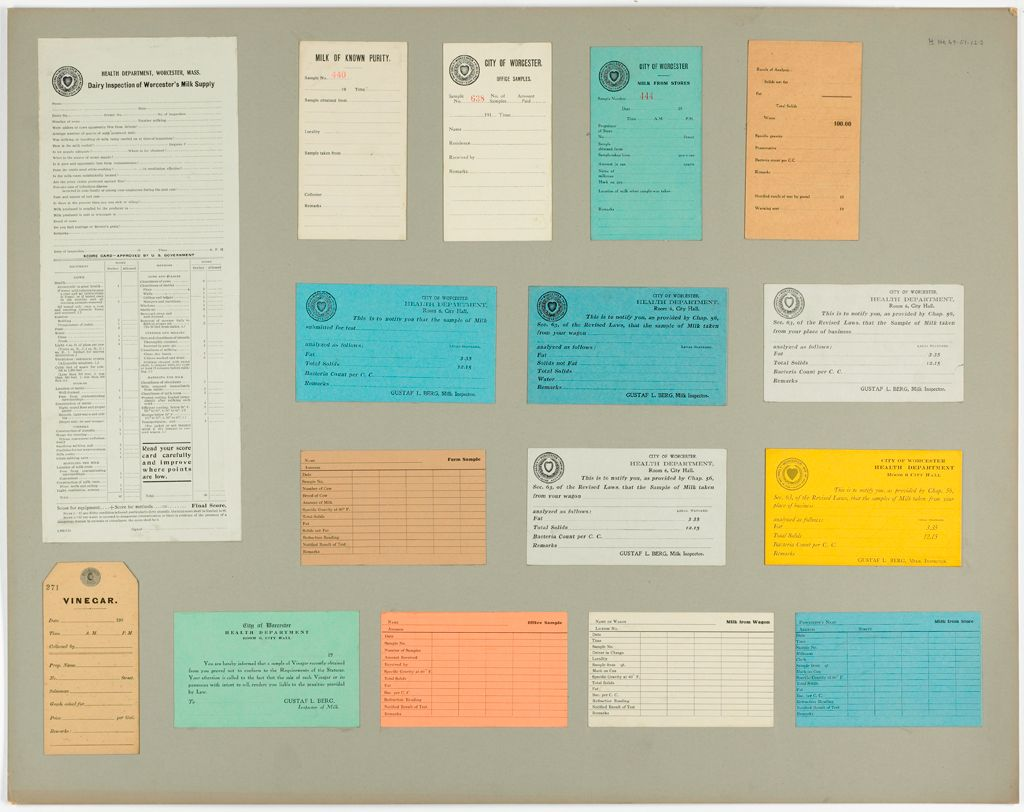 Health, General: United States. Massachusetts. Worcester. Health Department