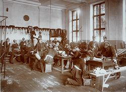 War: Germany. Berlin. Prussian Guard Regiment: Life in a Regiment of the Prussian Guard: In the Guard House..   Social Museum Collection