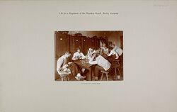 War: Germany. Berlin. Prussian Guard Regiment: Life in a Regiment of the Prussian Guard: Lounging and locker room..   Social Museum Collection