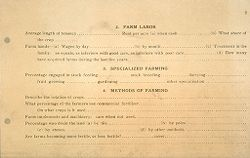 Miscellaneous: United States. Social Surveys: Schedules prepared for Use in Rural Social Surveys: Farm Labor. Specialized Farming. Methods of Farming.   Social Museum Collection