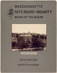 Defectives, Insane: United States. Massachusetts. Worcester. Insane Asylum: Massachusetts State Board of Insanity. Work of the Board. Statistics. Institutions: Worcester Insane Hospital.   Social Museum Collection