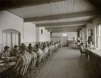Charity, Public: United States. New Hampshire. Grasmere. Hillsboro County Farm: New Hampshire State Charitable And Correctional Institutions.: Hillsborough County Farm.: Dining Room - House Of Correction.