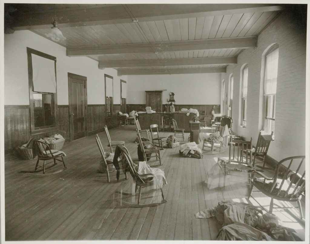 Charity, Public: United States. New Hampshire. Grasmere. Hillsboro County Farm: New Hampshire State Charitable And Correctional Institutions.: Hillsborough County Farm.: Sewing Room - Main Building.