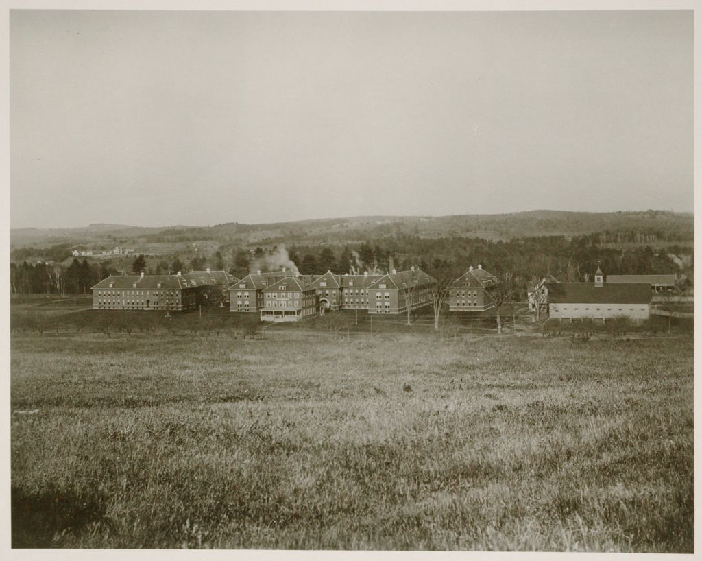 Charity, Public: United States. New Hampshire. Grasmere. Hillsboro County Farm: New Hampshire State Charitable And Correctional Institutions.: Hillsborough County Farm.: Building For Insane. Womens Wing. Superintendents Home. Mens Wing. House Of Correction. Barns.