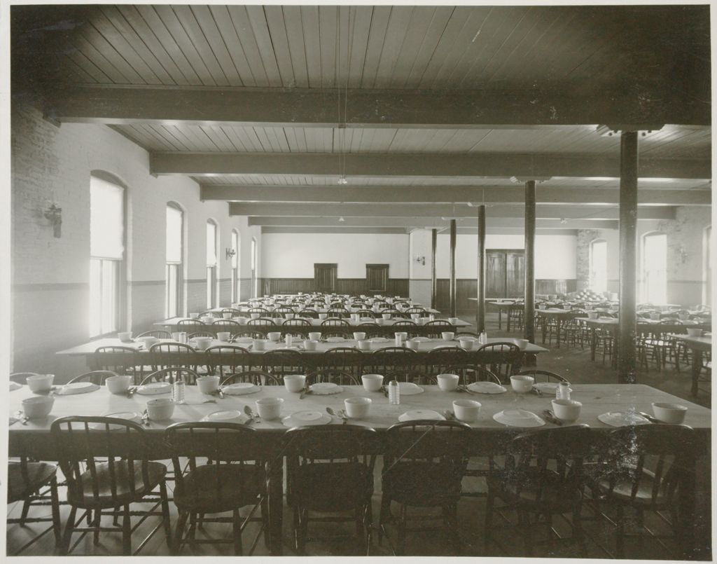 Charity, Public: United States. New Hampshire. Grasmere. Hillsboro County Farm: New Hampshire State Charitable And Correctional Institutions.: Hillsborough County Farm.: Inmates Dining Room.
