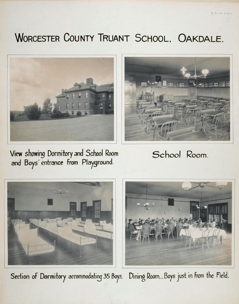 Crime, Children, Truant Schools: United States. Massachusetts. Oakdale. Worcester County Truant School: Worcester County Truant School, Oakdale.