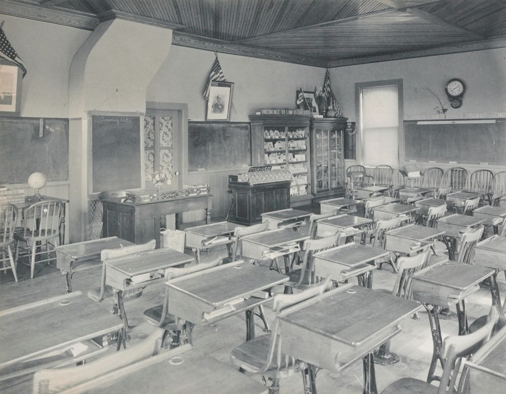Crime, Children, Truant Schools: United States. Massachusetts. Springfield. Hampden County Truant School: Hampden County Truant School, Springfield.: The School Room. Recently Fitted Up With Adjustable Furniture.