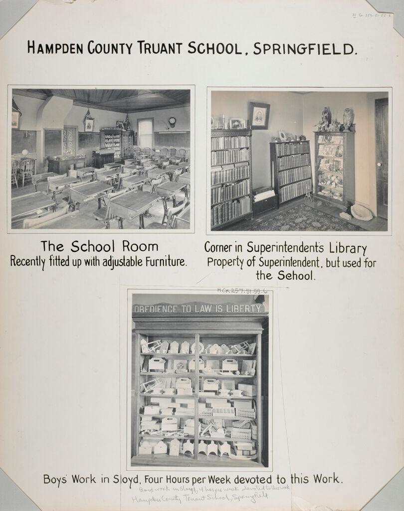 Crime, Children, Truant Schools: United States. Massachusetts. Springfield. Hampden County Truant School: Hampden County Truant School, Springfield.