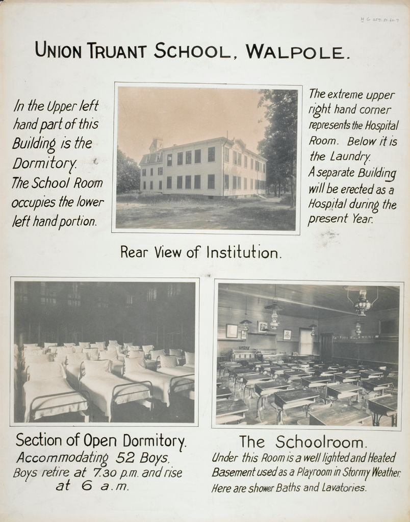 Crime, Children, Truant Schools: United States. Massachusetts. Walpole. Union Truant School: Union Truant School, Walpole.
