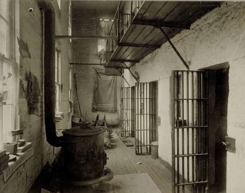 Crime, Prisons: United States. New Hampshire. Newport. Sullivan County Jail: New Hampshire State Charitable And Correctional Institutions: Interior - Old Sullivan County Jail.