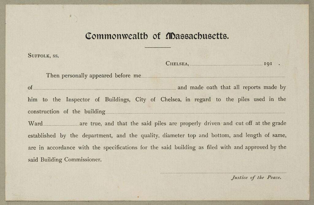 Housing, Improved: United States. Massachusetts. Chelsea. Massachusetts Building Permits: Commonwealth Of Massaachusetts.