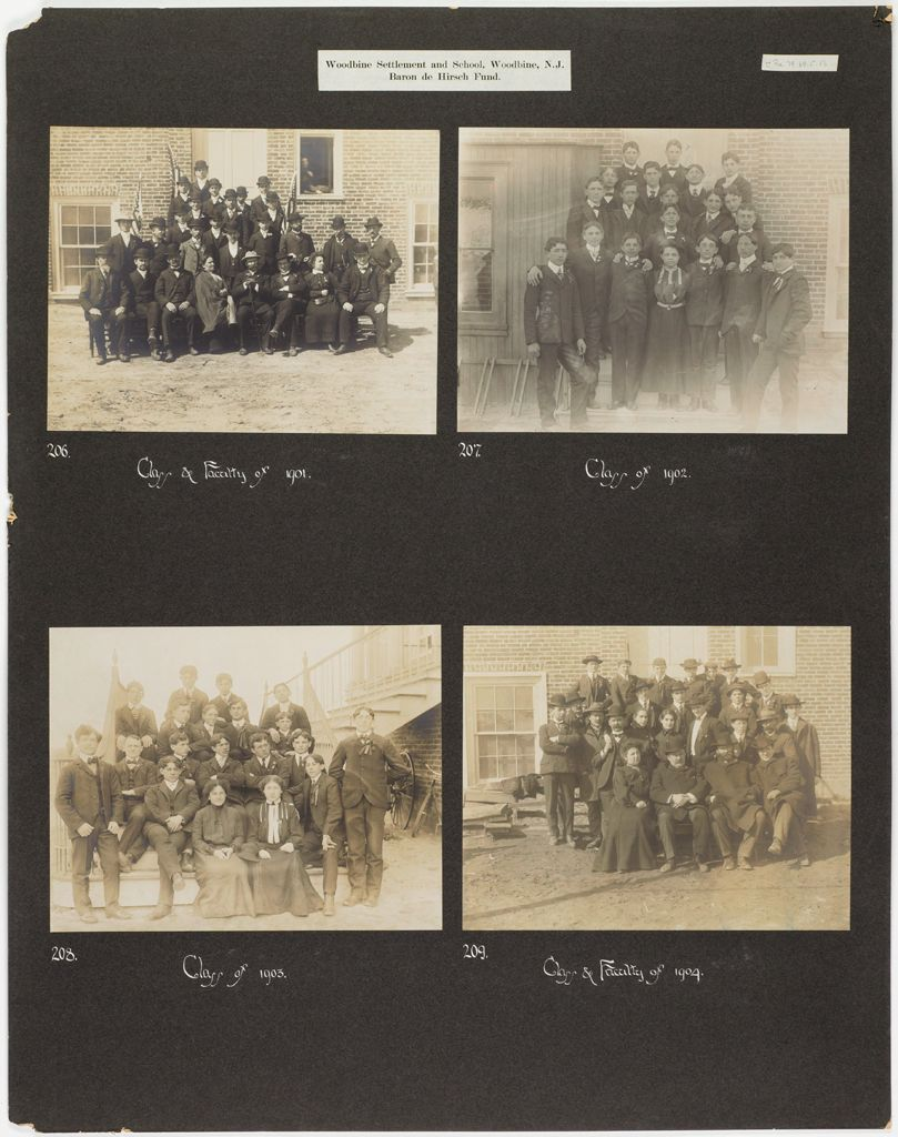 Races, Jews: United States. New Jersey. Woodbine. Baron De Hirsch Agricultural And Industrial School: Woodbine Settlement And School, Woodbine, N.j. Baron De Hirsch Fund.