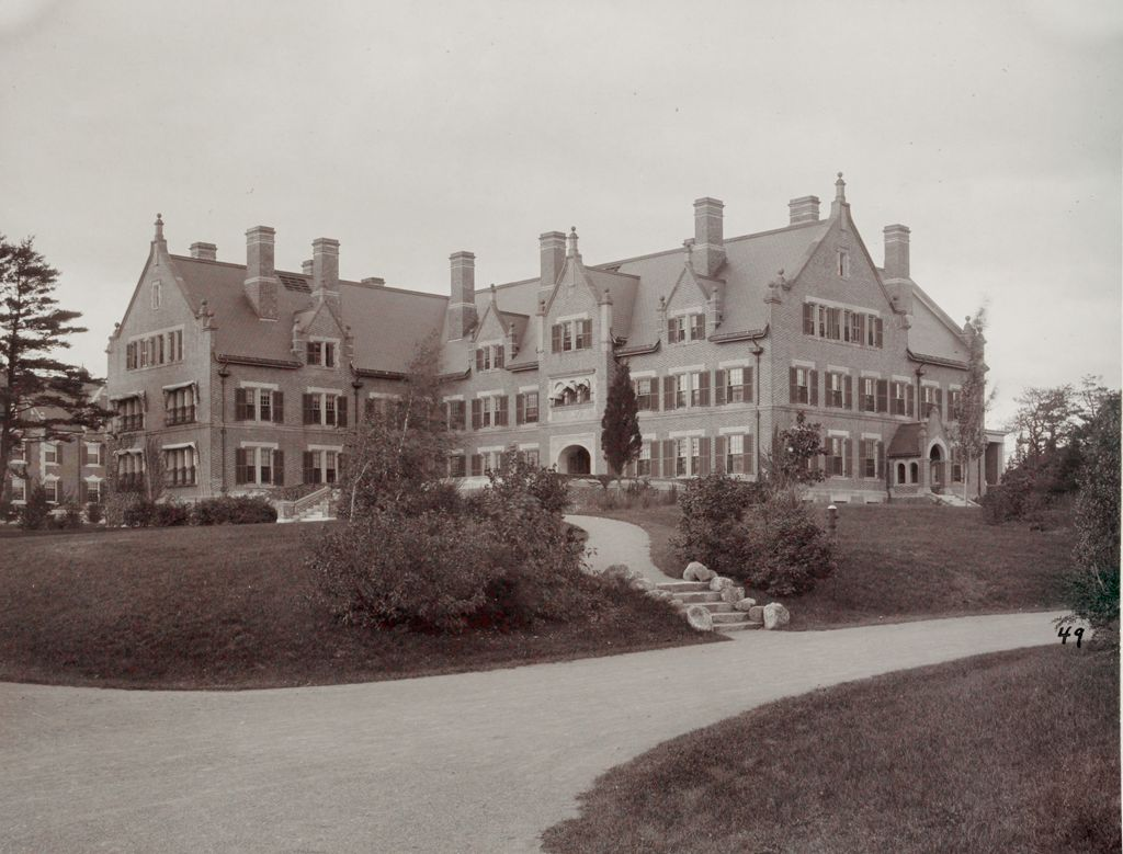 Defectives, Insane: United States. Massachusetts. Waverly. Mclean Hospital: Mclean Hospital. Men's Belknap: Front View