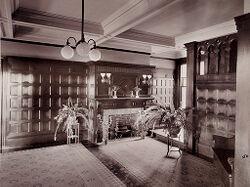 Defectives, Insane: United States. Massachusetts. Waverly. McLean Hospital: McLean Hospital. Mens Belknap: Entrance hall.   Social Museum Collection