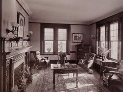 Defectives, Insane: United States. Massachusetts. Waverly. McLean Hospital: McLean Hospital. Mens Belknap: Sitting room.   Social Museum Collection