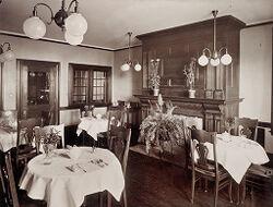 Defectives, Insane: United States. Massachusetts. Waverly. McLean Hospital: McLean Hospital. Mens Belknap: Dining room.   Social Museum Collection